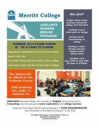Merritt College Adelante Summer Bridge Program