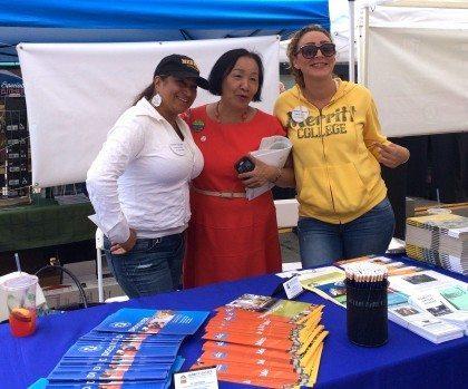 Lilia and Mayor REV at Laurel St. Fair