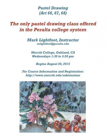 Fall 2015 Pastel Painting flyer