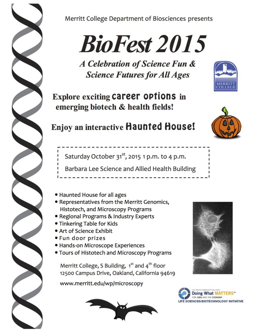 biofest 2015 on halloween learn about career options while biofest 2015 on halloween learn about career options while enjoying an interactive haunted house merritt college merritt college