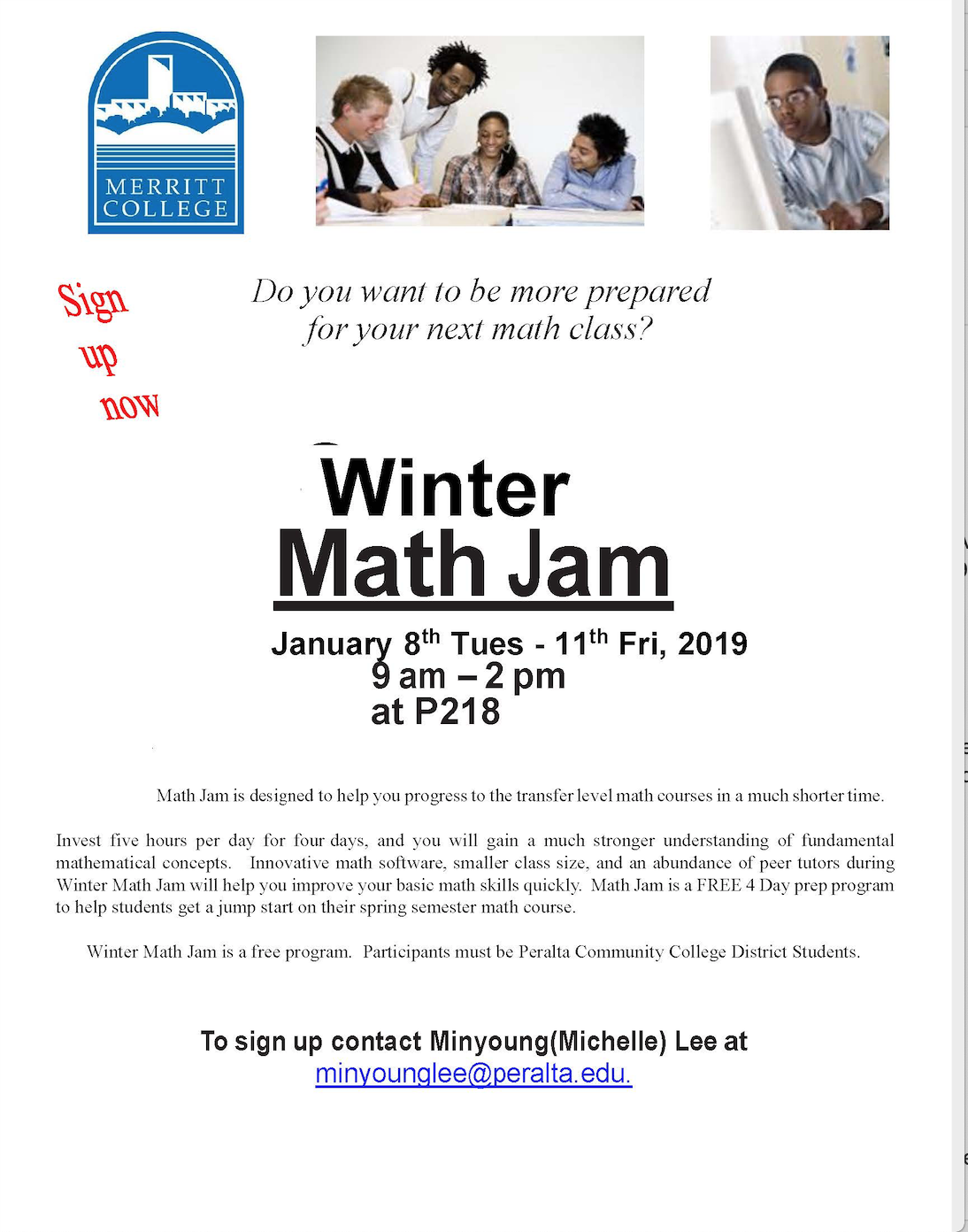 STARTS TODAY! Be Prepared for Math This Year! Sign up for