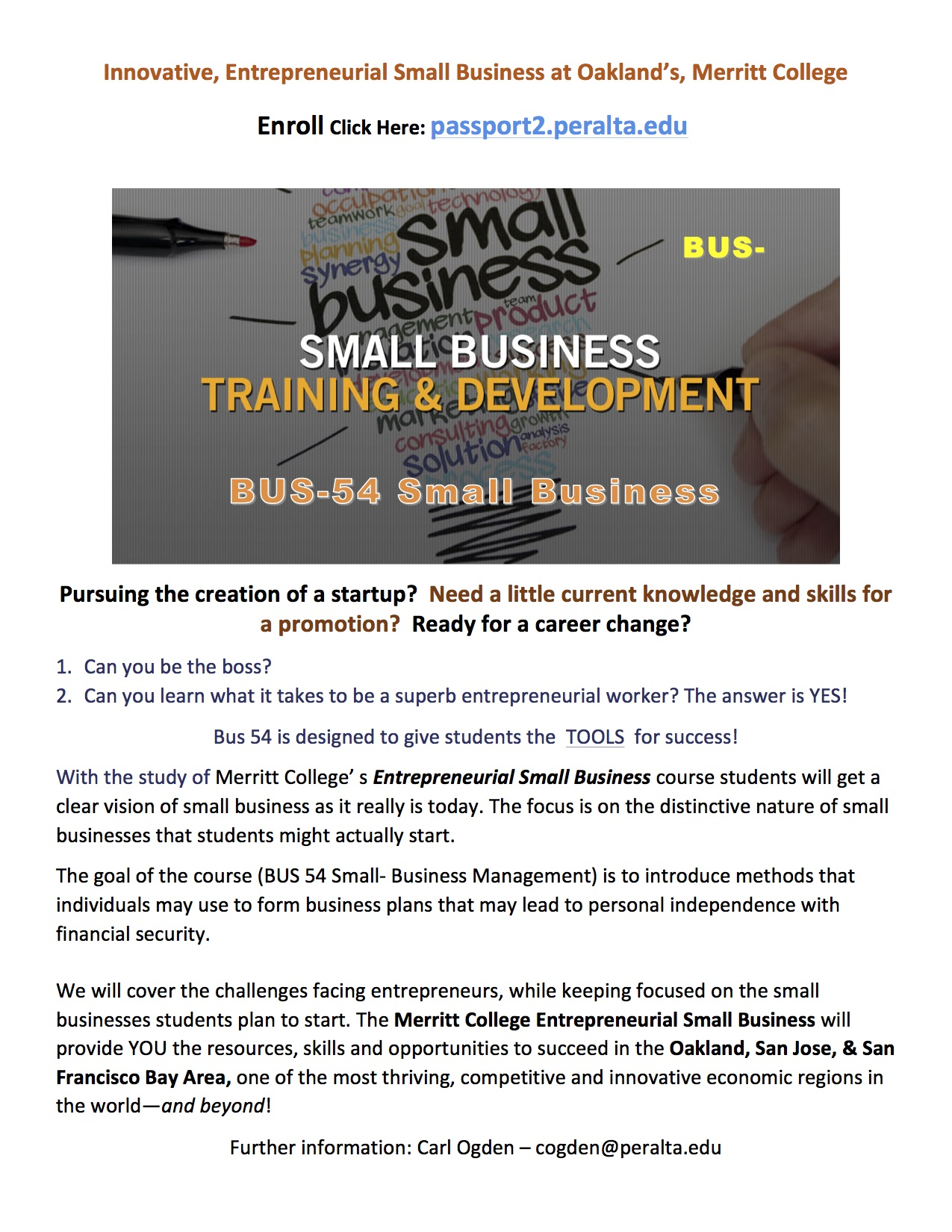 1 2 3 small business flyer bus 54 late start with