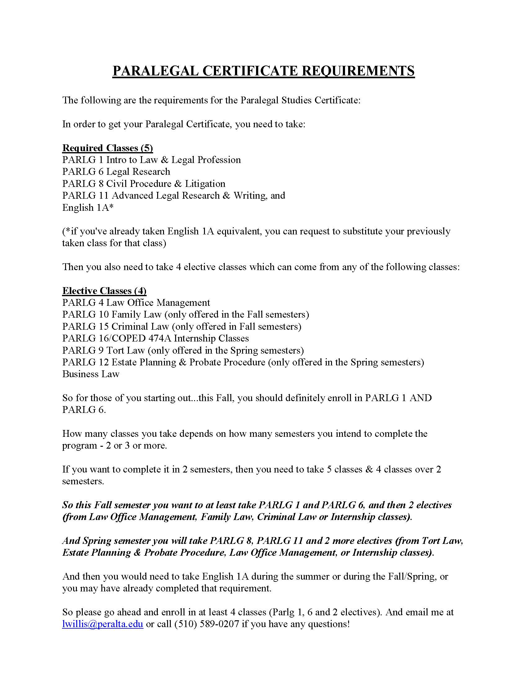 Paralegal Flyeront Sideupdated Fall 2018page2 Merritt College