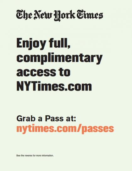 NYTimes.com Flyer 1